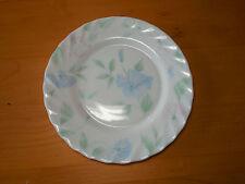 "Arcopal France CHLOE Set of 7 Salad Plates 7 5/8"" Scalloped Pink Blue Flowers"