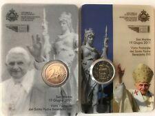 """2 Euro Edizione Speciale 2011 """"Visita Benedetto XVI""""in Folder:San Marino"""" Asta!"""