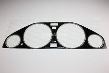 82-94 BMW E30 Carbon Cluster Dashboard Dial Gauge Bezel Trim & Chrome Rings