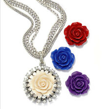 SWEET ROMANCE INTERCHANGEABLE ROSES NECKLACE BOXED SET