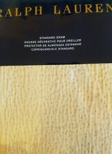 New Ralph Lauren Victoria Falls Pickstitch Dark Sand Standard Pillow Sham