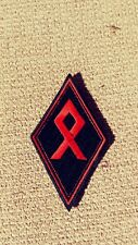 Odal Rune Diamond Patch  Outlaw 1%er Viking, Thor, Red & Black