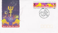 AUSTRALIA 6 JANUARY 1997 YEAR OF THE OX OFFICIAL FIRST DAY COVER SHS
