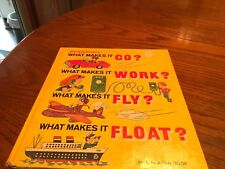 1971 What makes it Go, Work, Fly, Float Children's Book from Golden Books