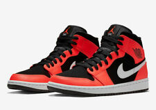 Men's Air Jordan 1 Mid Infrared 23 Shoes -Black -Size 11 -554724 061 <New>