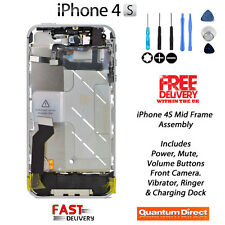 Complete Fully Pre Assembled Mid Frame Housing Assembly with All Parts iPhone 4S