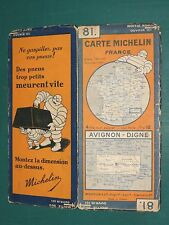 Carte MICHELIN n° 81 Avignon Digne