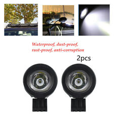 1 Pair Aluminum Motorcycle Round LED Focused Beam Head Spot Light Headlights