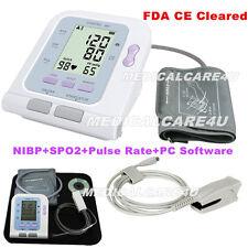 US Seller, CONTEC08C, Digital Blood Pressure Monitor Memorry, NIBP+SW+SPO2 probe