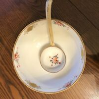 Nippon TN vintage 2 piece porcelain bone china footed  bowl and serving ladle