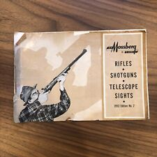 ORIGINAL Vintage 1952 Mossberg Shotguns Rifles Telescope Sights Catalog
