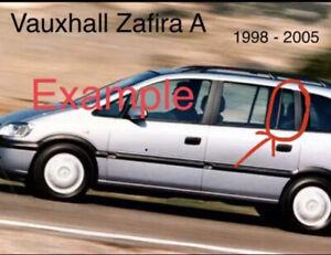 Vauxhall Zafira A  Small Window Glass 1/4 Door Passengers Side Rear 1999  - 2003