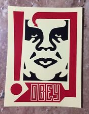 """OBEY Giant Shepard Fairey """"96"""" Red & White Limited Edition Sticker"""