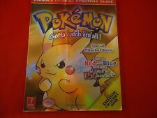 Pokemon Yellow Special Pikachu Edition Game Boy Strategy Guide Player's Book