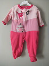 Girls Fleece Sleep Suit 0-6 Month