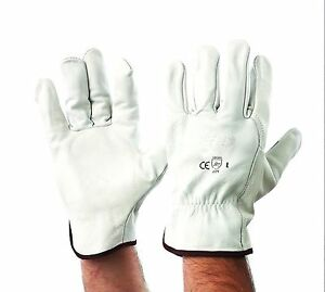 12 Pack - Leather Riggers Gloves - Size Medium