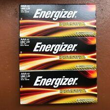 30 x Energizer AAA Battery Alkaline Industrial Batteries 1.5 V LR03 Expiry 2027
