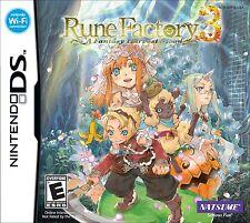 Rune Factory 3: A Fantasy Harvest Moon [Nintendo DS DSi, Natsume, RPG Sim] NEW