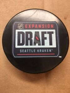 2021 Expansion Draft Seattle Kraken NHL Souvenir Hockey Puck