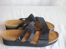 Naot Nancy Women's Sandal Black Leather US 8 EU 39 EUC Made in Israel