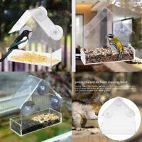 Bird Feeder House Window Garden Outdoor Clear Transparent Acrylic Suction Cup