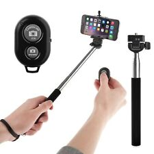 Red Extendable Selfie Stick Bluetooth iPhone 7 8 8X XR XS Max GoPro