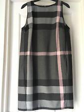 Next Grey and Pink size 8 tailored check shift dress sleeveless