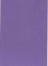 8 A4 Sheets of Polka Dot Card - Purple with White Dot 260gsm New