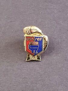 USA- ABF-USA-American Boxing Federation -Boxing Glove-Gold-tone Logo pin