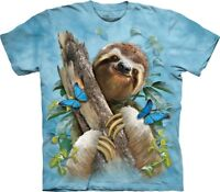 The Mountain Unisex Adult Sloth & Butterflies Animal T Shirt