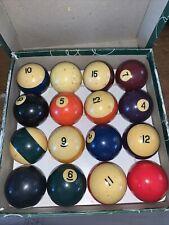 "VERY USED Aramith PREMIUM Pool Balls Belgian billiard ball set #1 2 1/4 "" Balls"