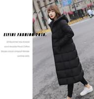 Large Size Womens Long Parka Coat Hooded Down Cotton Puffer Thicken Jacket A1
