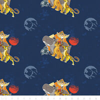 Disney The Lion Guard All for One Navy Camelot 100% Cotton fabric by the yard