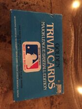 Trivia Cards Major League Baseball Edition (1984, Golden) Complete MLB Game