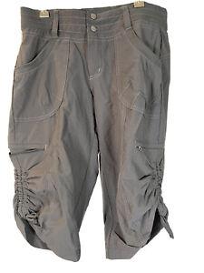 Kuhl Hiking Bermuda Capris Long Shorts Size SMALL Gray Charcoal Black Women's