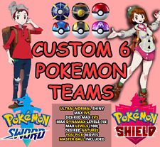 Pokemon Sword/Shield CUSTOM TEAM OF 6 SHINY PERFECT IV EV FAST DELIVERY