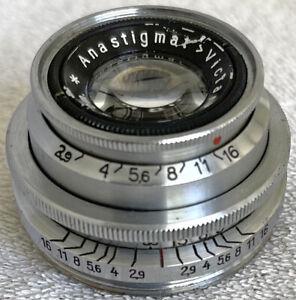 Victar 50mm f/2.9 Prime Lens M40 Praktiflex Screw Mount Germany