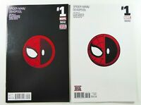 Marvel SPIDER-MAN / DEADPOOL (2016) #1 HTF 6th & 7th Print VARIANT Set NM (9.4)
