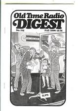 OLD TIME RADIO DIGEST #115, Fall/06, rare US digest mag, private eyes on radio