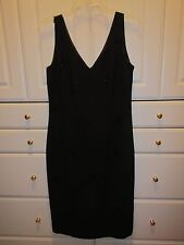 Evan-Picone Dress Womens Black Evening Sleeveless Dress Size 8 Lined Very Nice
