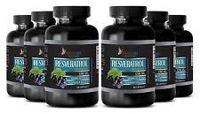 Natural Resveratrol Powder 1200mg Anti-Aging Antioxidant 6 Bottles 360 Capsules