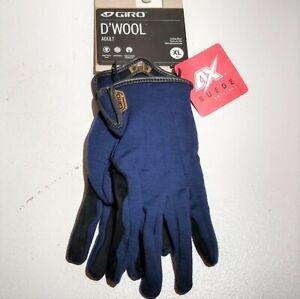 GIRO D'Wool Cycling Gloves MENS XL (10) 4X Suede Original Blue MTB/ROAD NEW