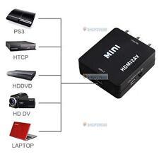 HDMI to RCA Composite Video Audio AV CVBS Adapter Converter 720p/1080p Black JD