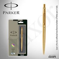 NEW PARKER CLASSIC GOLD GT GOLD TRIM ORIGINAL BALL PEN - FREE WORLDWIDE SHIPPING