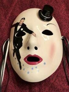Vintage Vandor 1984 Pelzman Designs Japan Mask Ceramic Wall Decor Fred Astaire