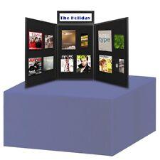 Folding Portable Display Board Exhibition Trade Show Presentation Black w/ Bag
