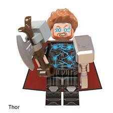 Lego Minifigure THOR WITH STORM BREAKER AND MJOLNIR Marvel Avengers Endgame