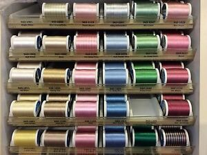 SULKY 40W RAYON EMBROIDERY THREAD-(KING 850 YARDS)-VARIOUS COLORS-COLLECTION 1