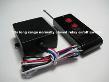 MSD 12V NORMALLY CLOSED dry contact on/off relay long range remote switch RS32P