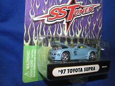 97 TOYOTA SUPRA muscle machine Import tuner 1/64 lt blue  furious street race